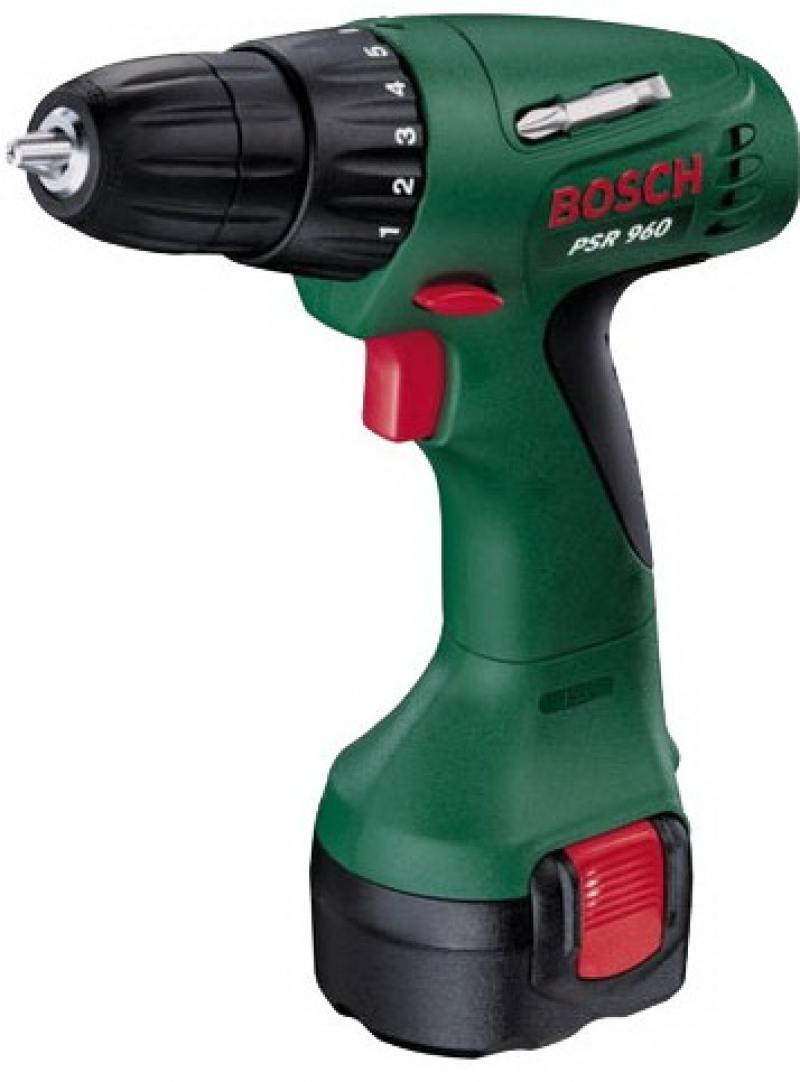Аккумуляторный шуруповерт Bosch PSR 960 1.2Ah x1 Case (0603944669) педикюрный набор polaris psr 5004r розовый