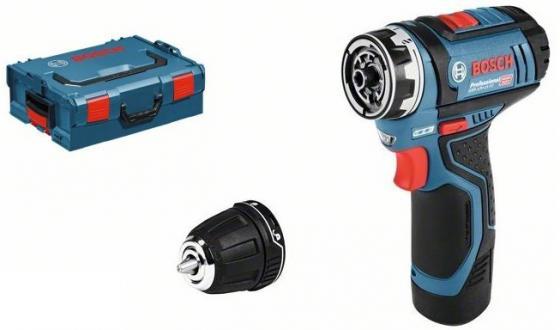 Аккумуляторная дрель-шуруповерт Bosch GSR 12V-15 FC 06019F6001 электроинструмент bosch gsr 12v 15 2 0ah x2 l boxx 0601868109