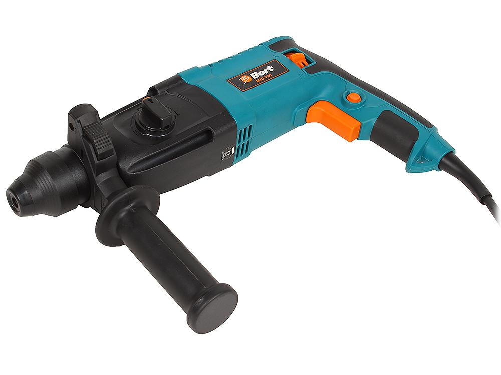 Перфоратор Bort BHD-720 (мощность 620 Вт; скорость вращения 0-1200 об/мин; сила удара 2,1 Дж; патрон SDS+; набор аксессуаров 8 шт) bort bhd 720