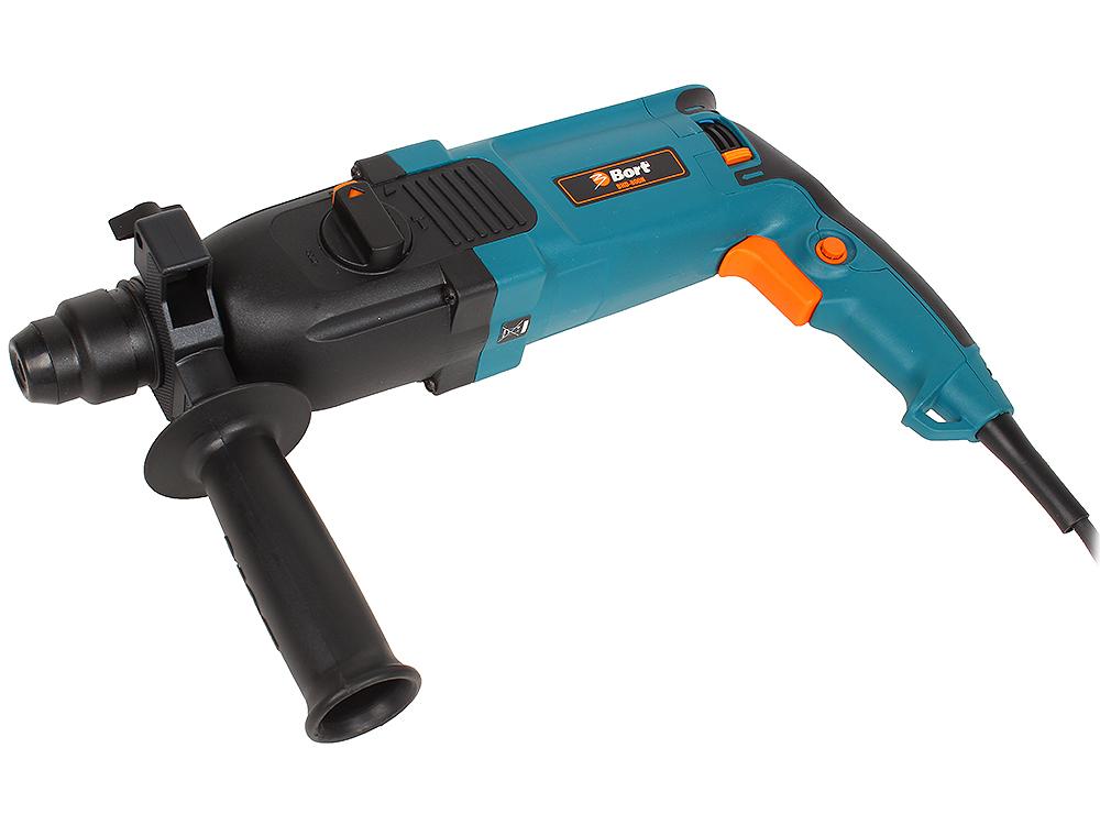 Перфоратор Bort BHD-800N (мощность 800 Вт; скорость вращения 0-1100 об/мин; сила удара 3 Дж; патрон SDS+; набор аксессуаров 10 шт)