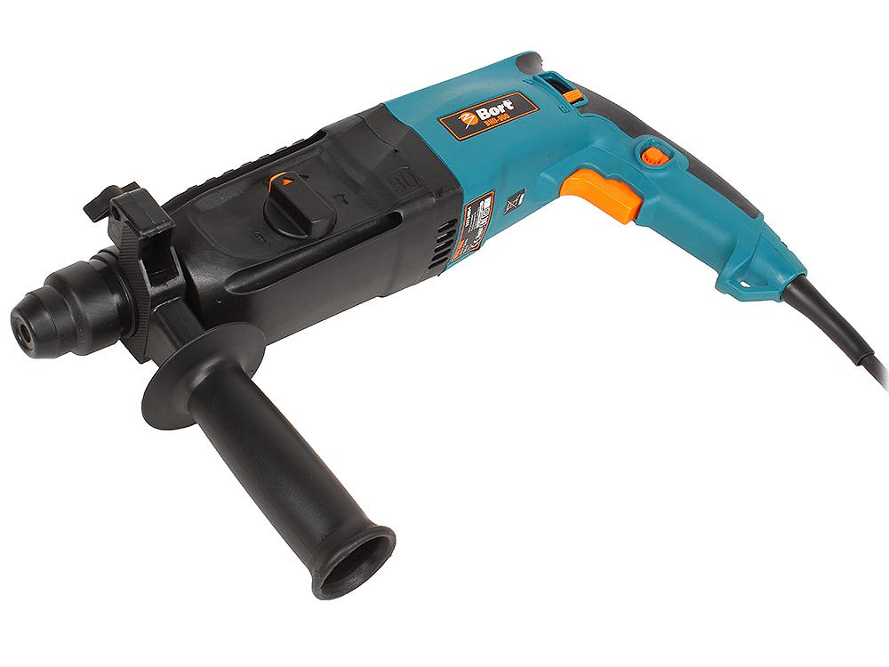 Перфоратор Bort BHD-900 (мощность 900 Вт; скорость вращения 0-900 об/мин; сила удара 3,5 Дж; патрон SDS+; набор аксессуаров 10 шт)