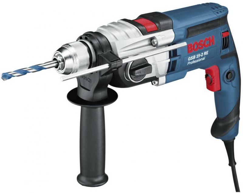 Дрель ударная Bosch GSB 19-2 RE ударная дрель dorkel drd 500 2 dr 3105