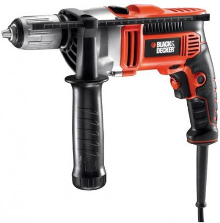 Дрель ударная Black & Decker KR705K-XK 750Вт фрезер black and decker kw900e xk