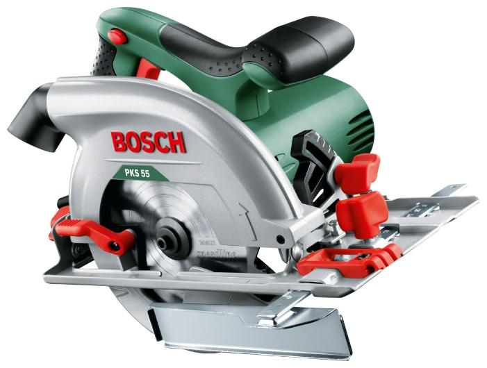 Циркулярная пила Bosch PKS 55 пила дисковая аккумуляторная bosch pks 18 li 0 603 3b1 300