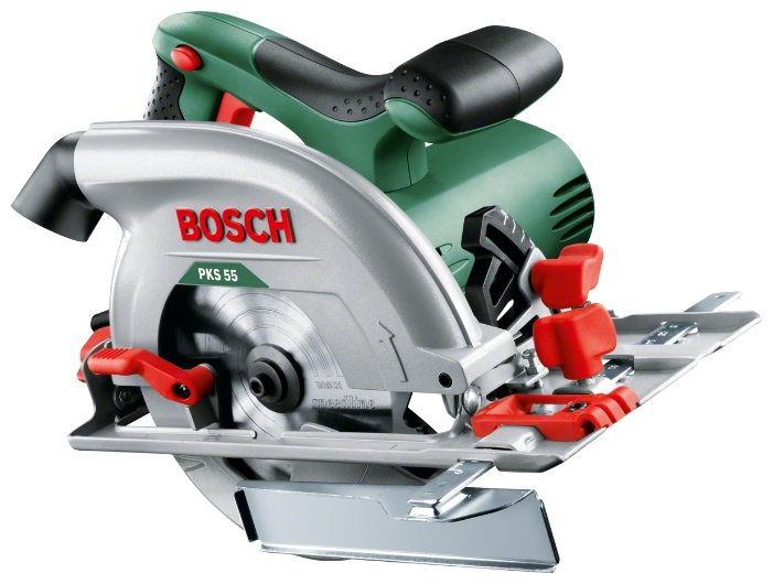 Циркулярная пила Bosch PKS 55 аккумуляторная циркулярная пила bosch gks 12v 26 professionali без акк и з у 0 601 6a1 001