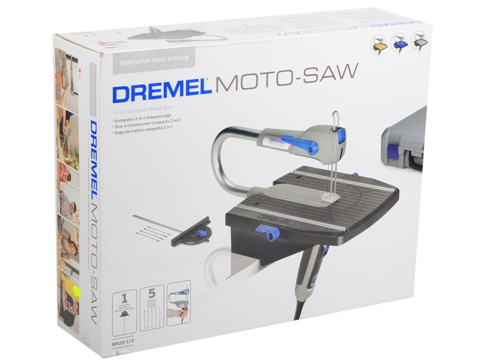 Лобзик Dremel Moto-Saw MS20-1/5 70Вт F013MS20JC лобзик dremel moto saw ms20 1 5