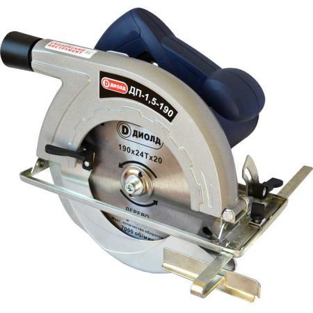 Пила циркулярная ДИОЛД ДП-1,5-190 1500Вт 5000об/мин 4кг диск 190х20х2мм
