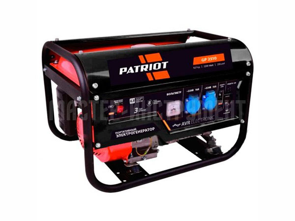 Генератор Patriot GP 2510 6.5 л.с бензиновый patriot gp 3810le