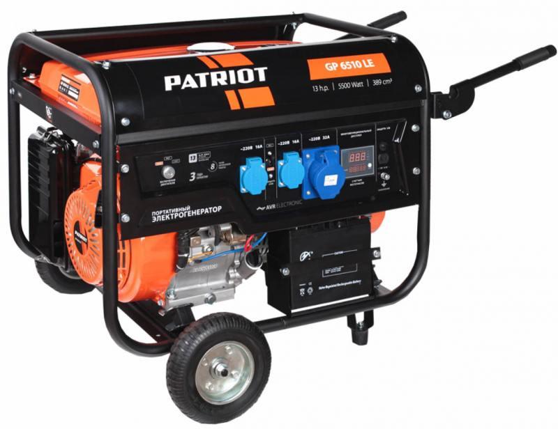 Генератор Patriot GP 6510LE бензиновый