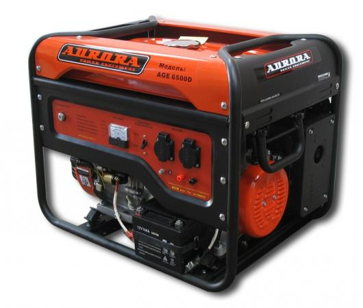 цена на Бензоэлектростанция AURORA AGE 6500 D 5.5кВт бак 25л 9ч электростарт