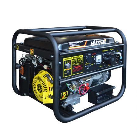 Бензоэлектростанция HUTER DY6500LXA 5,0кВт 50Гц бак22л расх.374г/кВтч цена