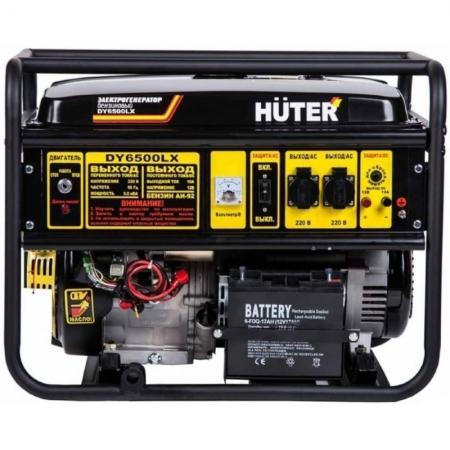 Бензоэлектростанция HUTER DY6500LX электростартер 5,0кВт 50Гц бак22л расх.374г/кВтч генератор huter dy6500lx электростартер 5000вт