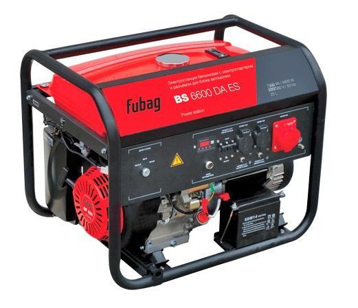 Генератор бензиновый FUBAG BS 6600 DA ES с электростартером и коннектором автоматики бензиновый двигатель etalon ge177fe 9л с с электростартером
