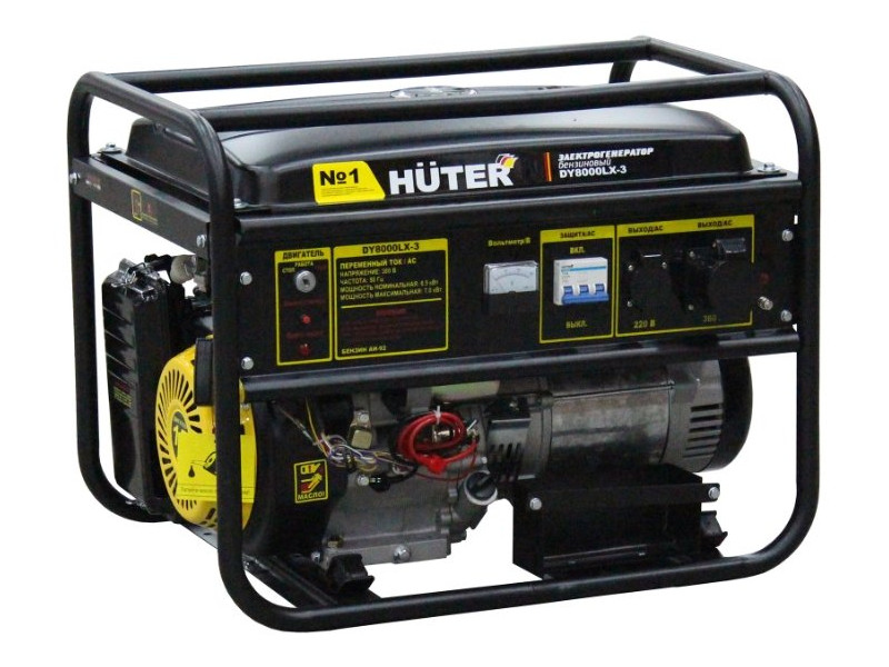 Генератор Huter DY8000LX-3 бензиновый генератор бензиновый huter dy8000l