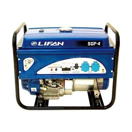 Генератор LIFAN 5GF-4 бензиновый 220В 5/5.5кВт 13 лс. генератор lifan 6gf2 4