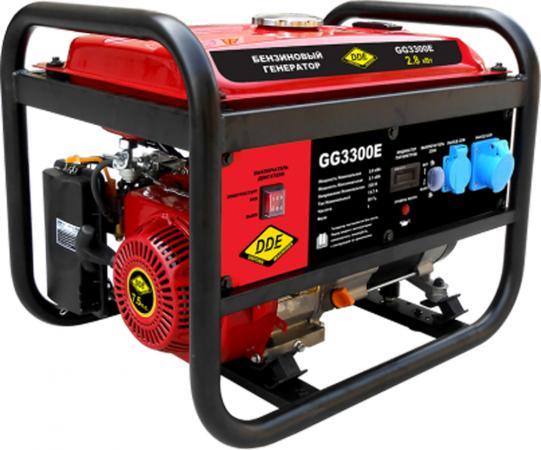 Генератор бензиновый DDE GG3300E однофазн.ном/макс. 2,8/3.1 кВт (UP170, т/бак 15л, эл/ст, 47кг)