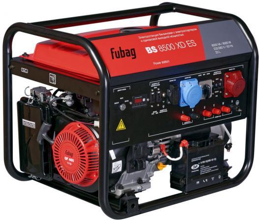 Электростанция бензиновая с электростартером и одинаковой выходной мощностью BS 8500 XD ES бензиновая электростанция с электростартером и коннектором автоматики fubag bs 8500 a es 838253