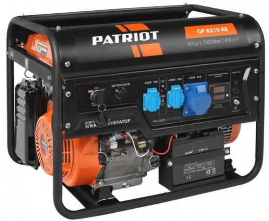 Генератор бензиновый PATRIOT GP 8210AE генератор бензиновый patriot gp 3510e