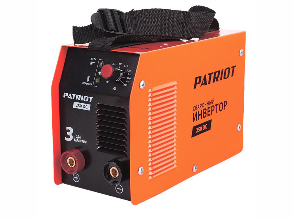 Аппарат сварочный Patriot 250DC MMA 10/160A инверторный + кейс