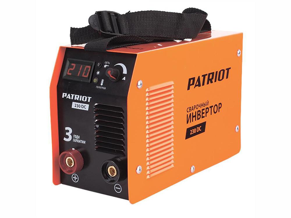 Аппарат сварочный Patriot 230DC MMA 10/210A инверторный