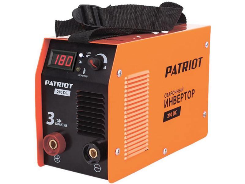 Аппарат сварочный Patriot 210DC MMA 10/160A инверторный пила patriot es 2016 220301510
