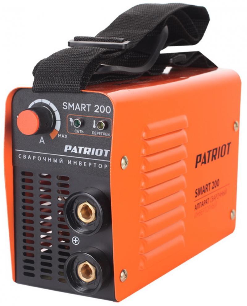 Аппарат сварочный Patriot SMART 200 MMA инверторный инверторный сварочный аппарат patriot 170dc mma