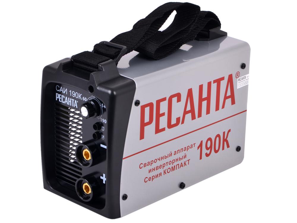 Сварочный аппарат РЕСАНТА САИ-190К(компакт) инверторный сварочный аппарат инверторный ресанта саи 250к компакт