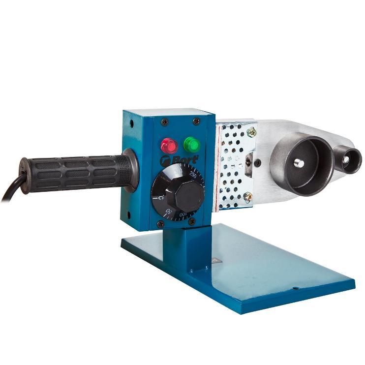 Аппарат для сварки труб Bort BRS-1000 время нагрева 10 мин, насадки 20/25/32/40/50/63mm, 1000Вт сварочный аппарат bort brs 1000 [91271174]