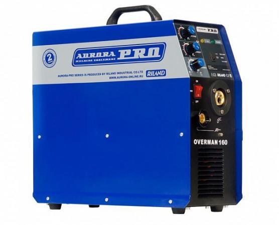 Сварочный полуавтомат AURORA PRO OVERMAN 160 Mosfet 4кВт 220В MIG/MAG 40-160А 0.6-1.0мм 15кг