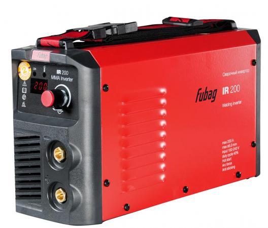 Инвертор сварочный FUBAG IR 200 V.R.D. 30-200А раб. напряжение 150-240В 2.7кг инвертор сварочный fubag ir 220