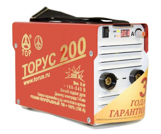 где купить Инвертор сварочный ТОРУС 200 НАКС 6.2кВт 165-242В 30-200А 2.0-5.0мм ПВ60% ММА и TIG по лучшей цене