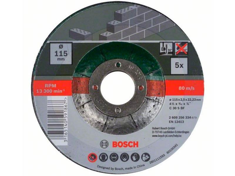 Набор отрезных кругов Bosch 115x2.5мм 5шт 2609256334