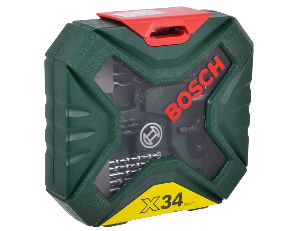 Набор бит и сверел Bosch X-line 34 34шт 2607010608 bosch x line 15 2607019579