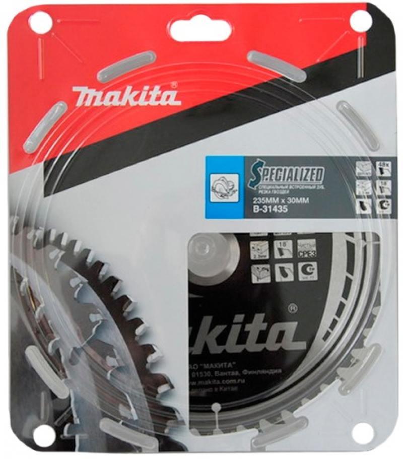 Пильный диск Makita 235х30х2.3мм 48зуб по дереву B-31435 диск пильный makita 305х25 4мм 100зубьев b 35380