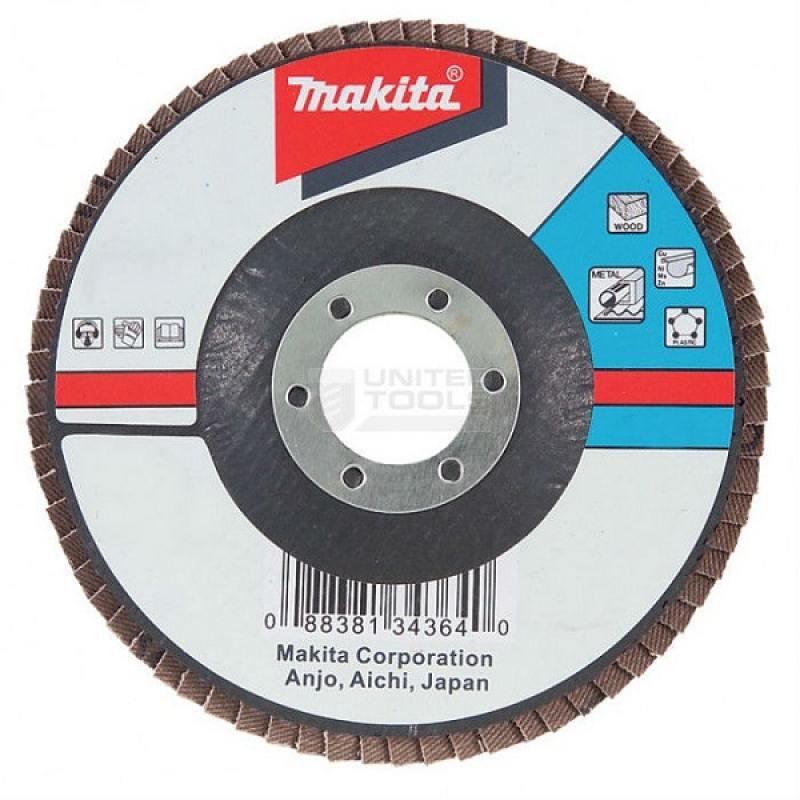 Лепестковый диск Makita 125х22мм К60 D-27296 шлифлента makita 100х610мм к60 5шт p 36893