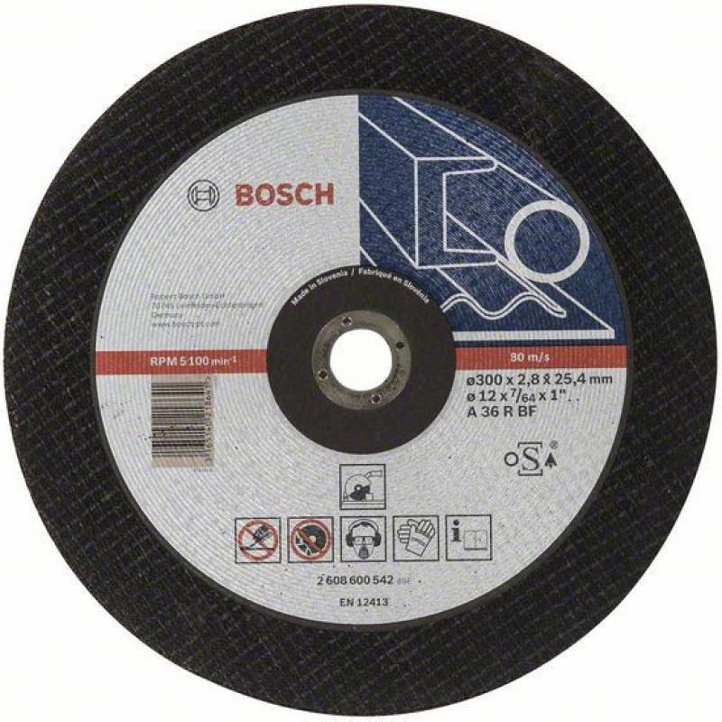 Отрезной круг Bosch 300х25.4мм 2608600542 bosch 12ач m6 agm 512 014 010 ytx14 bs