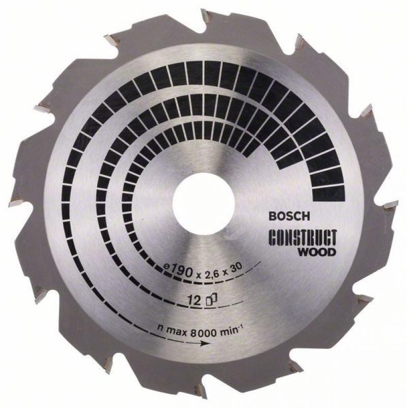 Пильный диск Bosch 190х30мм 2608640633 пильный диск bosch 256х30мм 2608641795