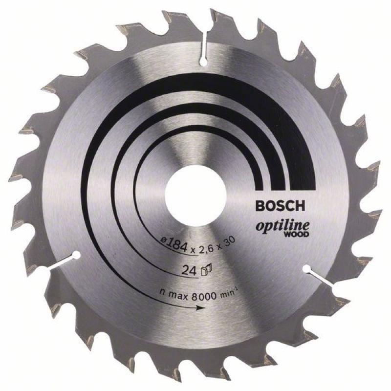 Пильный диск Bosch 184х30мм 2608640610  диск пильный bosch optiline 2608640610