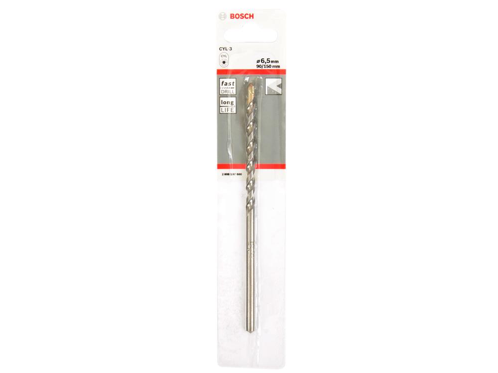 Сверло Bosch 2608597680 6.5х150mm по бетону сверло по бетону bosch 6х150 мм