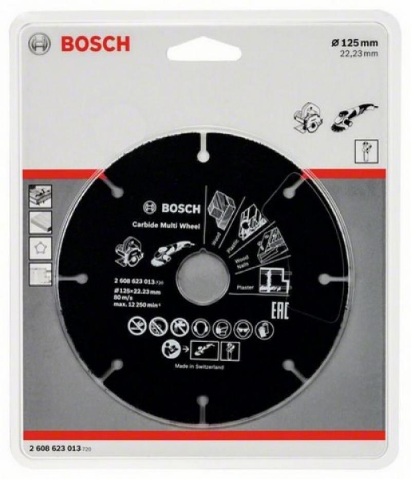 Отрезной круг Bosch 125х22,23мм 2608623013 по дереву круг отрезной sturm 9020 07 230x25
