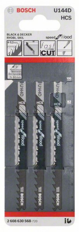 Лобзиковая пилка Bosch U 144 D HCS 2608630568