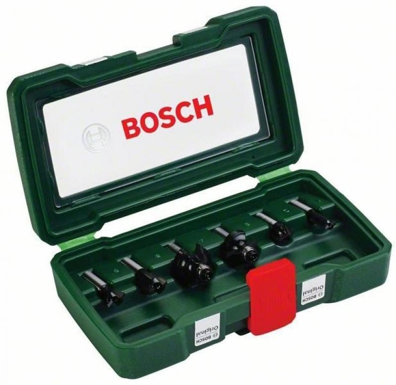 Набор фрез по дереву Bosch 6 НМ-SET 2607019463