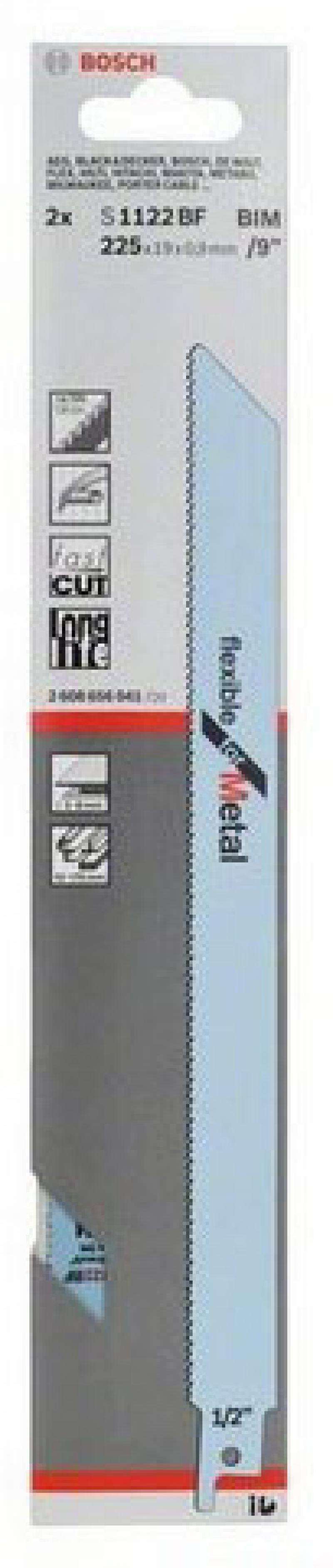 Набор пилок для сабельных пил Bosch S1122 BF 2шт 2608656041 комплектующие и запчасти для ноутбуков sony tablet z2 sgp511 512 541 z1