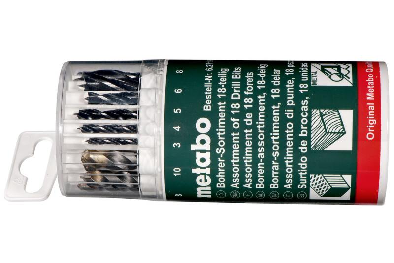 Набор сверл Metabo 18шт 627190000 набор сверл metabo 627949000
