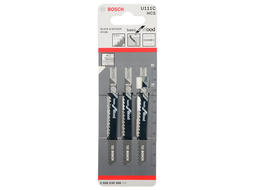 Лобзиковая пилка Bosch U 111 С HCS 3шт 2608630566