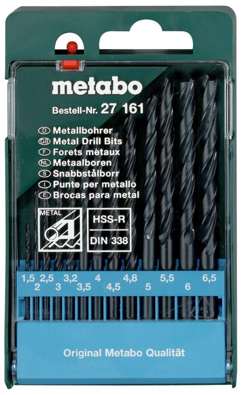Набор сверел Metabo 13шт 627161000 metabo 425 turbotec