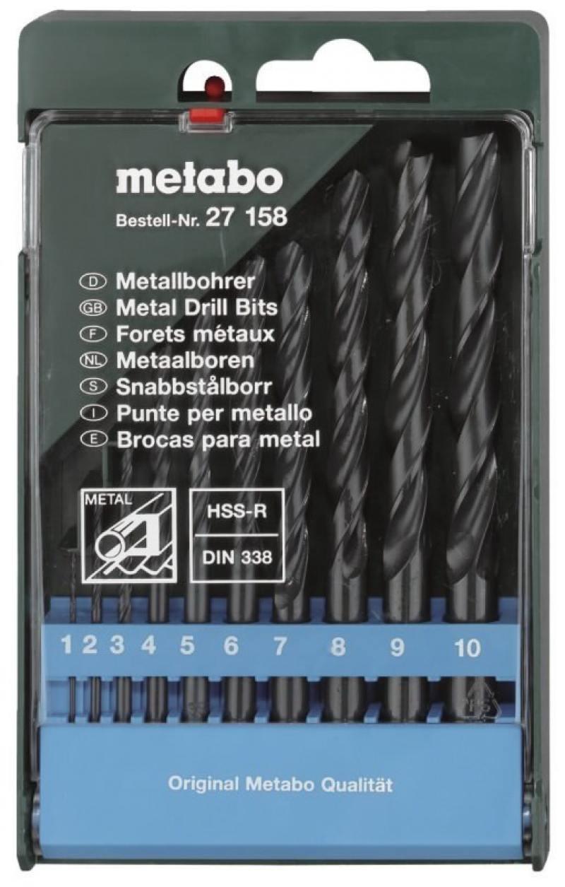Набор сверел Metabo 10шт 627158000 набор сверл metabo 627158000