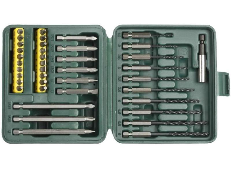 Набор бит и сверел Kraftool 40 предметов 26156-H40 набор бит 40 предметов hans 6040