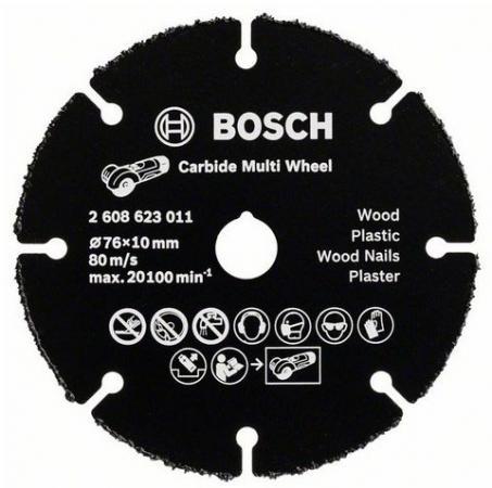 Отрезной круг Bosch 76мм для УШМ по дереву 2608623011 круг отрезной по дереву bosch профи 125х22х1 мм