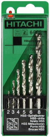 Набор сверл Hitachi HTC-780462 6шт hitachi htc 780462